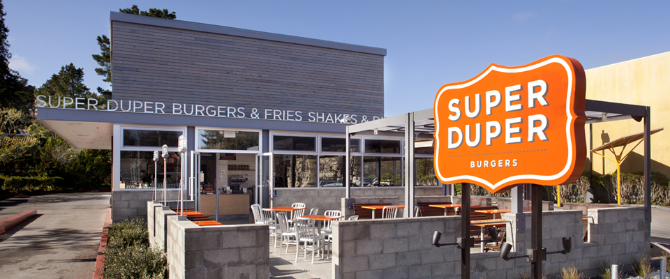 North Cal Reclaimed Redwood Siding-Super Duper Burgers-front